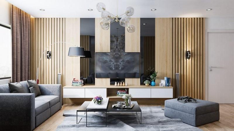 Thiết kế nội thất phòng khách với phòng cách hiện đại (4)