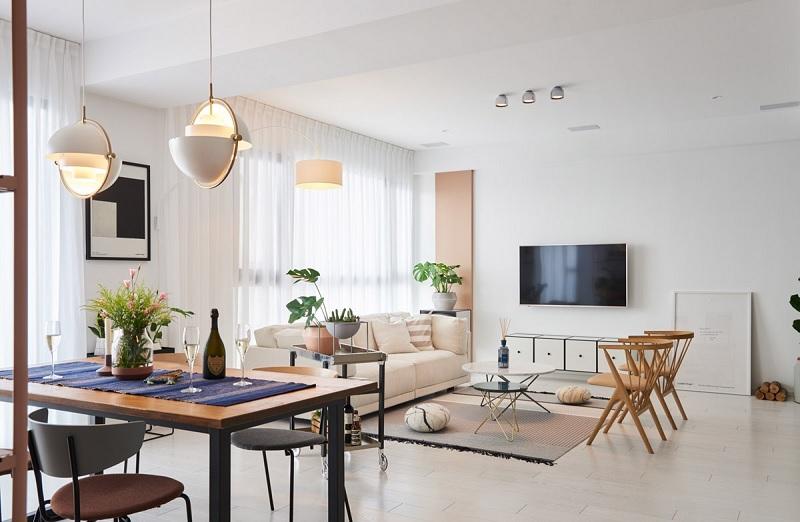 Trang trí nội thất phòng khách với phong cách tối giản (1)
