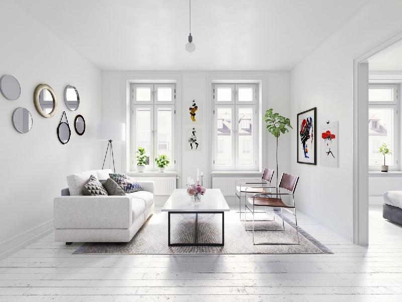 Thiết kế nội thất phòng khách với phong cách tối giản (2)
