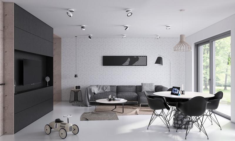 Trang trí nội thất phòng khách với phong cách tối giản (3)