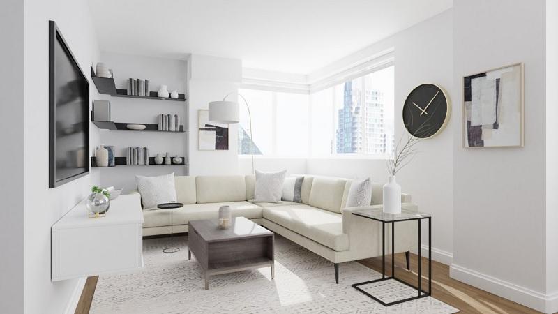 Thiết kế nội thất phòng khách với phong cách tối giản (4)