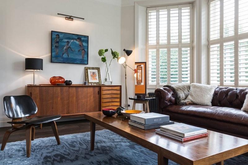 Trang trí nội thất phòng khách với phong cách Vintage (1)