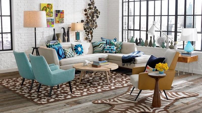 Thiết kế nội thất phòng khách với phong cách Vintage (4)