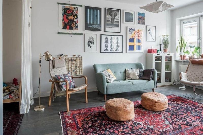 Thiết kế nội thất phòng khách với phong cách Vintage (2)