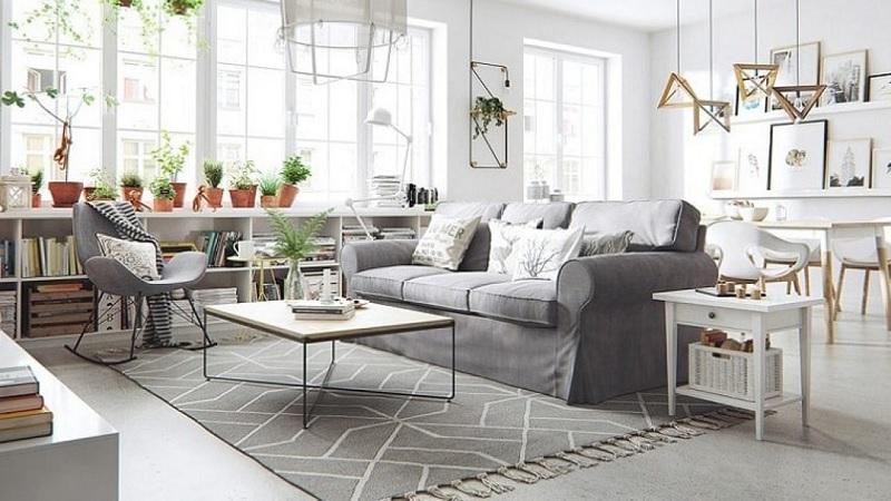 Trang trí nội thất phòng khách với phong cách Vintage (5)