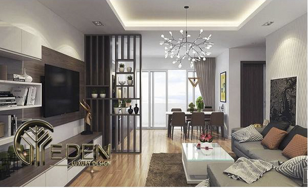 Trang trí phòng khách chung cư hiện đại, tiện nghi