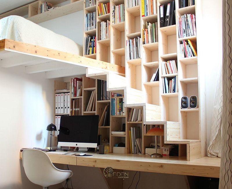 Mẫu không gian làm việc dưới gầm cầu thang(4)