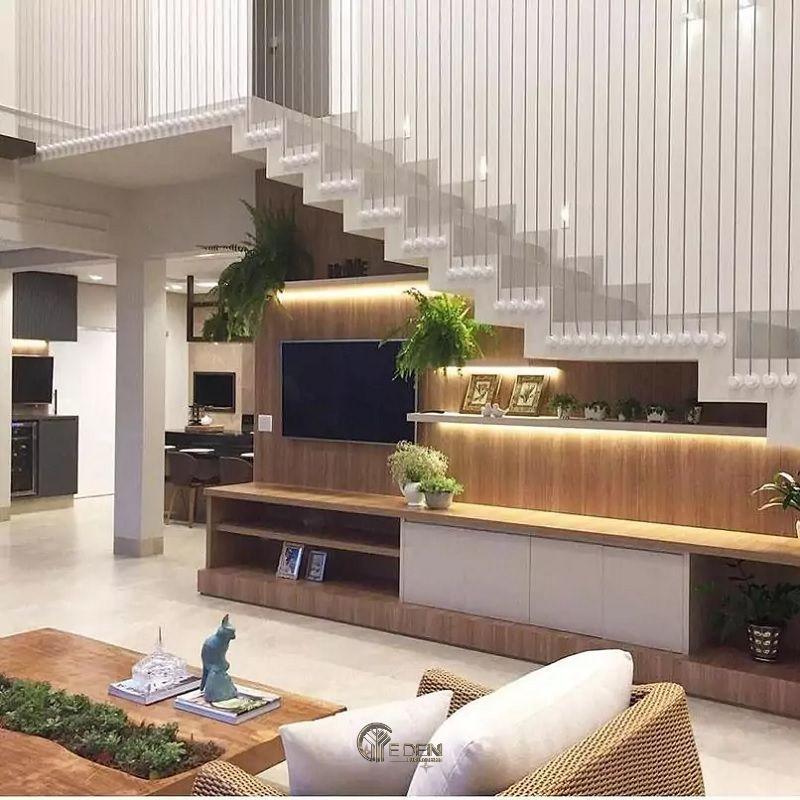 Mẫu thiết kế kệ tivi dưới gầm cầu thang (4)