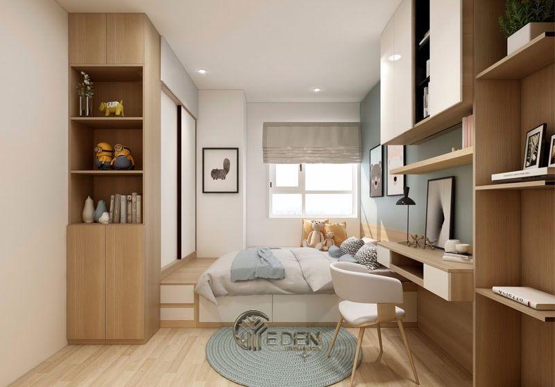 Mẫu thiết kế phòng ngủ nhỏ cho trẻ em. Với cách thiết kế thống minh, tích hợp nhiều tiện ích chắc chắn sẽ là một sự lựa chọn hoàn hảo cho các căn hộ chung cư