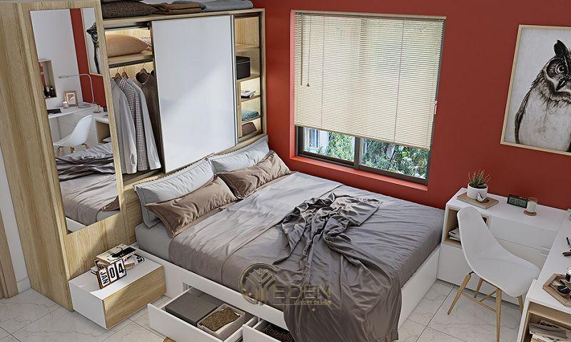 Mẫu thiết kế phòng ngủ nhỏthông minh, mang đến không gian tiện nghi, hiện đại