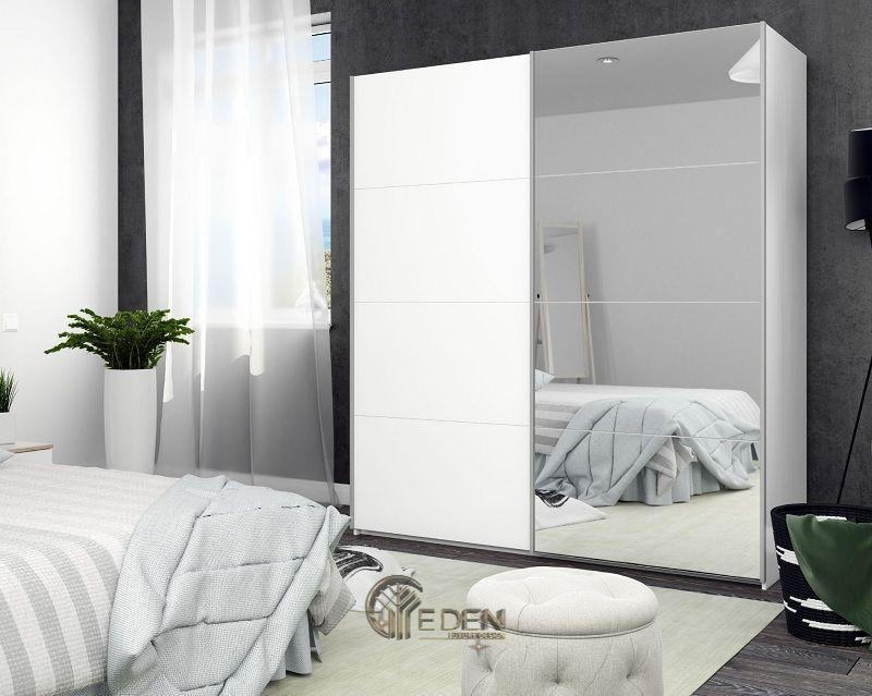 Cửa quần áo tủ lùa có lắp đặt gương