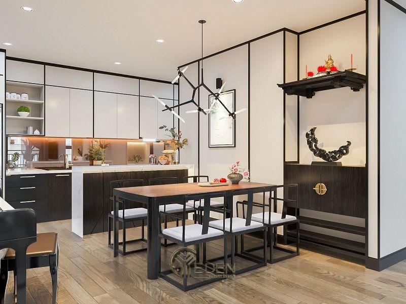 Mẫu bàn ăn thông minh, gọn gàng cho phòng bếp hiện đại
