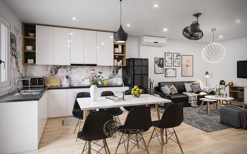 Mẫu bàn ăn hiện đại cho căn hộ chung cư mini