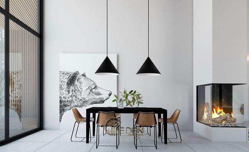 Mẫu bàn ăn tối giản cho biệt thự sang trọng với nét đẹp tinh tế, bình yên