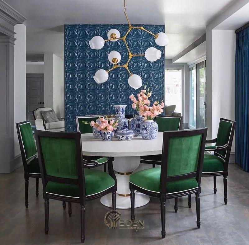 Màu sắc bàn ăn đẹp theo phong cách phòng bếp