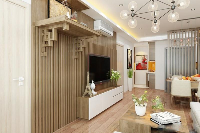Mẫu thiết kế bàn thờ treo tường phù hợp với không gian lớn