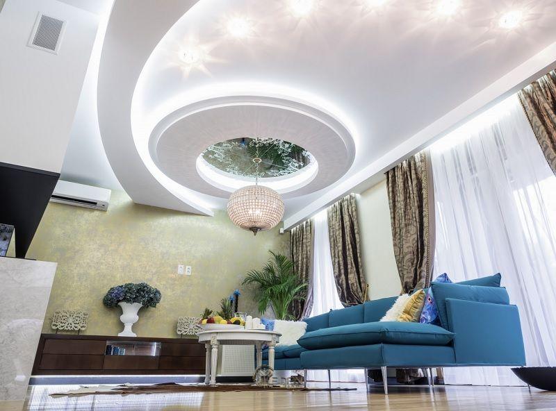 Mẫu trần thạch cao giật cấp hiện đại, sang trọng cho phòng khách (7)