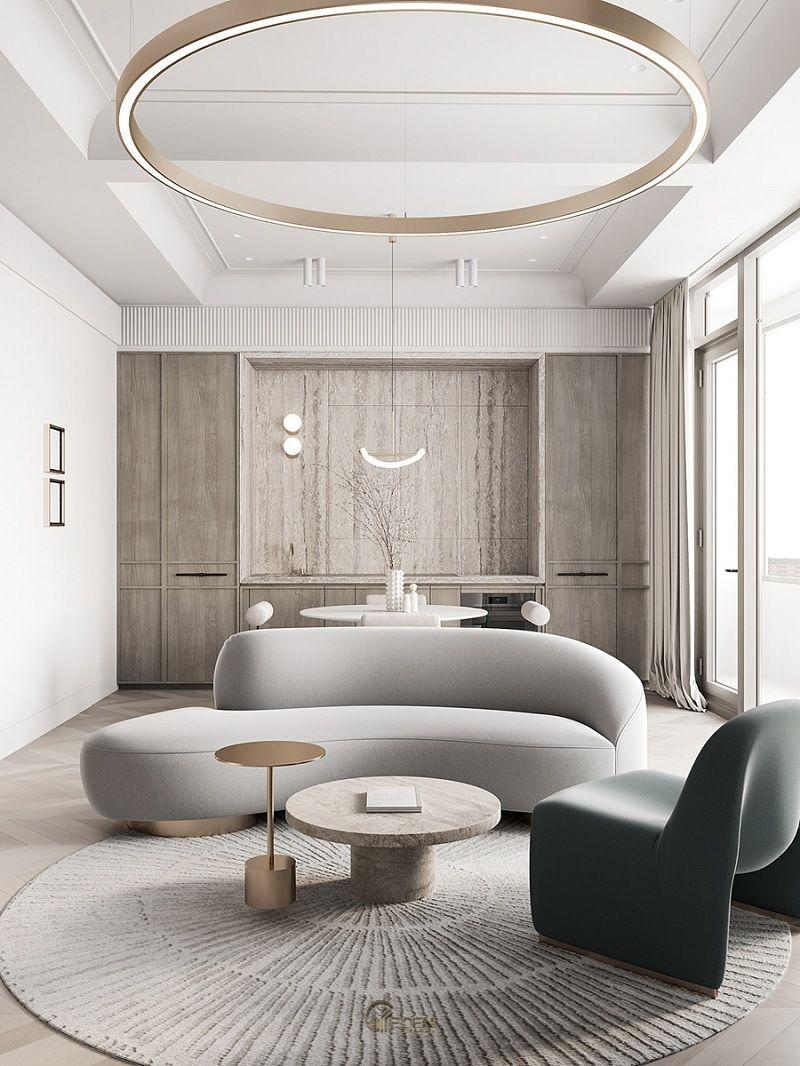 Mẫu trần thạch cao giật cấp hiện đại, sang trọng cho phòng khách (4)
