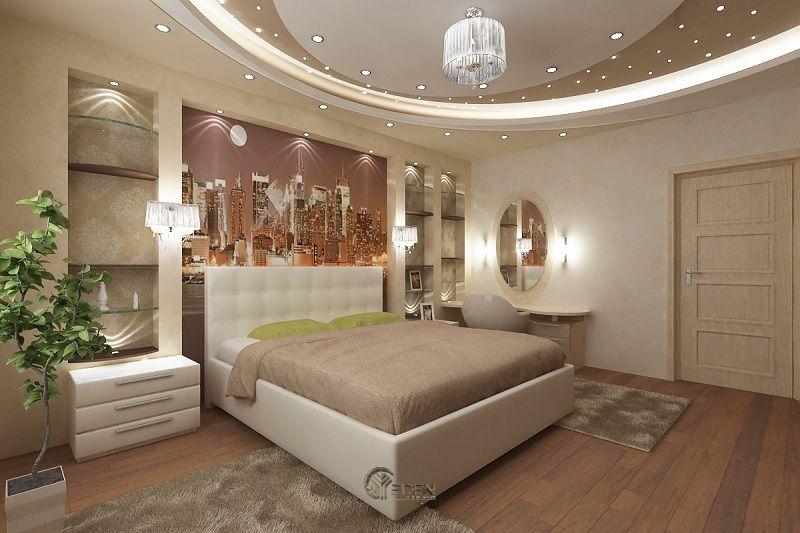 Mẫu trần thạch cao giật cấp hiện đại, sang trọng cho phòng ngủ (2)