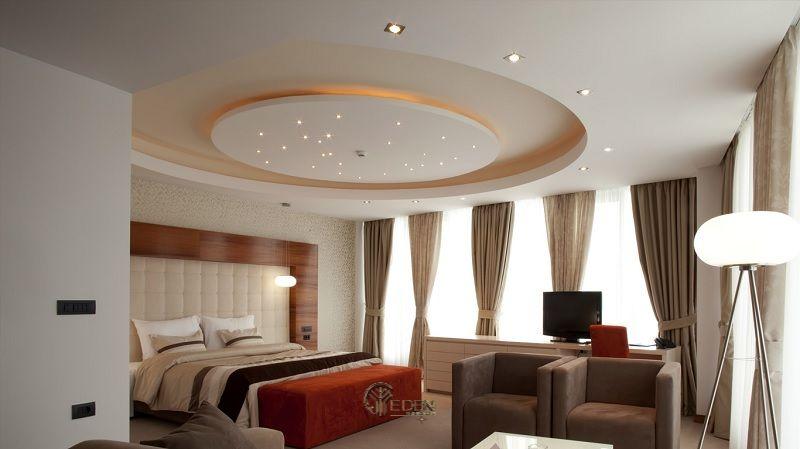 Mẫu trần thạch cao giật cấp hiện đại, sang trọng cho phòng ngủ (3)