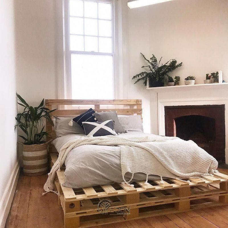 Mẫu giường gỗ trang trí phòng ngủ phong cách Tối giản (5)