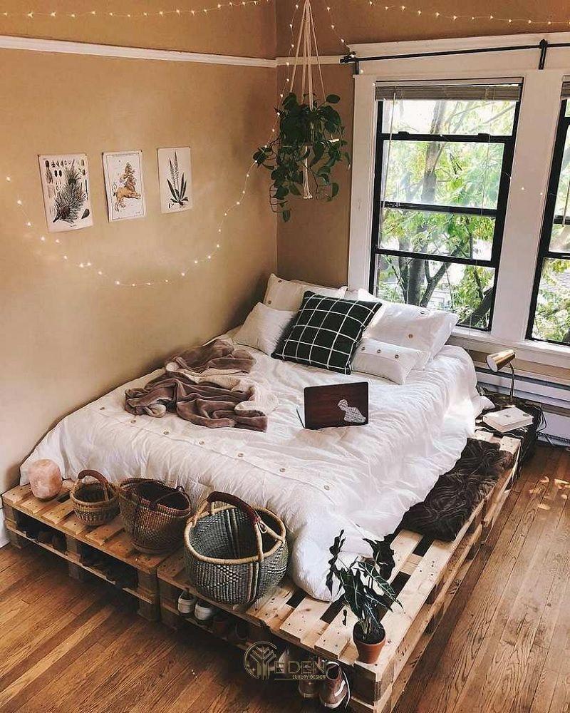 Mẫu giường gỗ trang trí phòng ngủ phong cách Vintage (1)