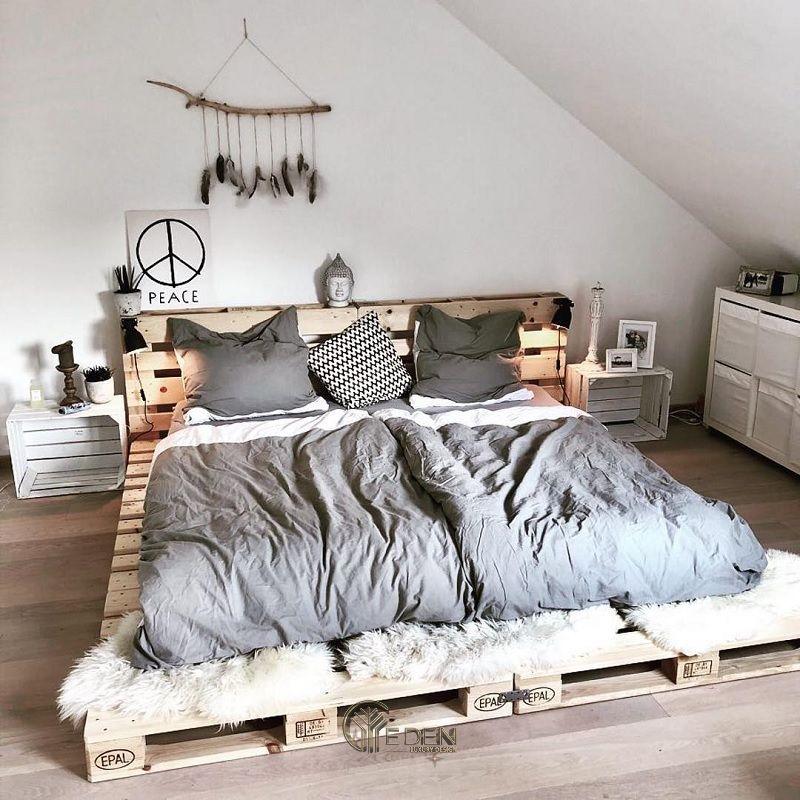 Mẫu giường gỗ trang trí phòng ngủ phong cách Vintage (2)