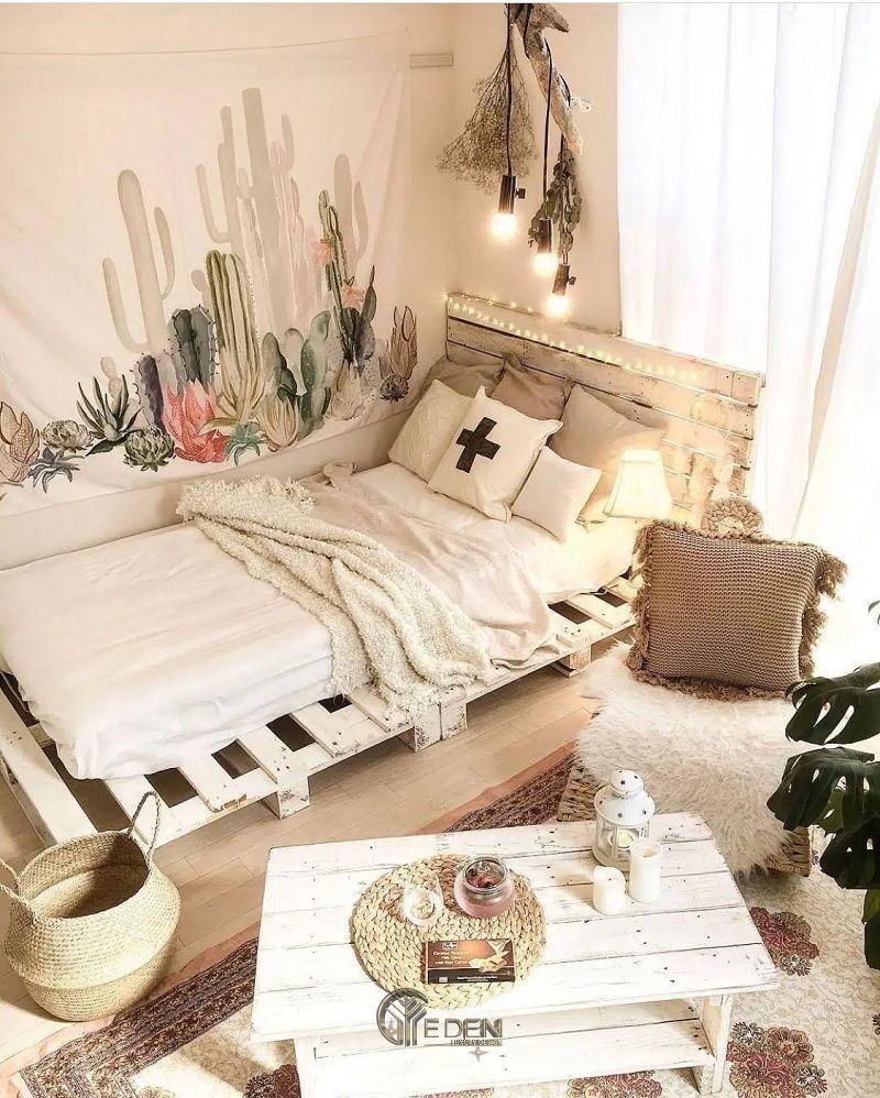 Mẫu giường gỗ trang trí phòng ngủ phong cách Vintage (3)