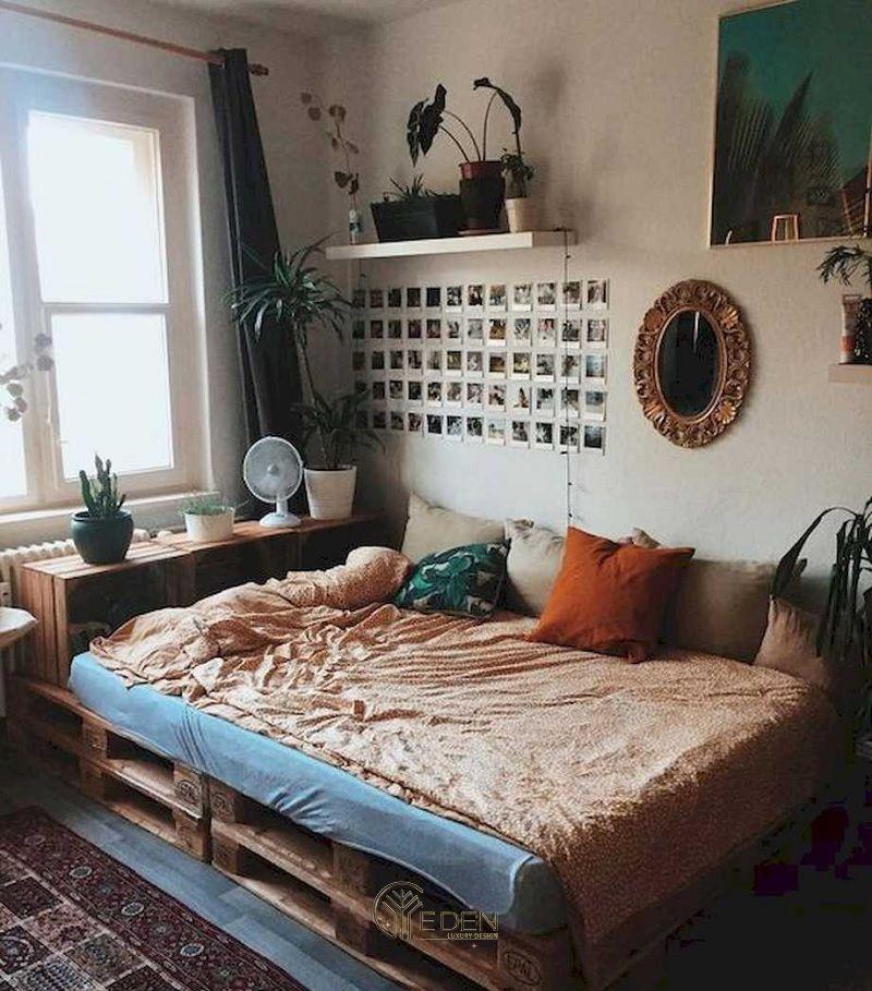 Mẫu giường gỗ trang trí phòng ngủ phong cách Vintage (4)