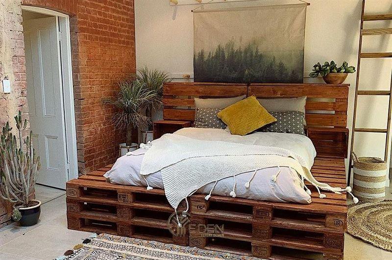 """Mẫu giường gỗ trang trí phòng ngủ phong cách """"Xanh"""" (5)"""