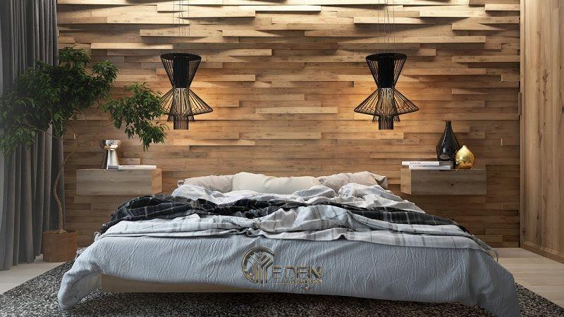 """Mẫu giường gỗ trang trí phòng ngủ phong cách """"Xanh"""" (4)"""