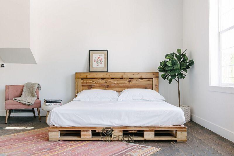 Mẫu giường gỗ trang trí phòng ngủ phong cách Tối giản (1)