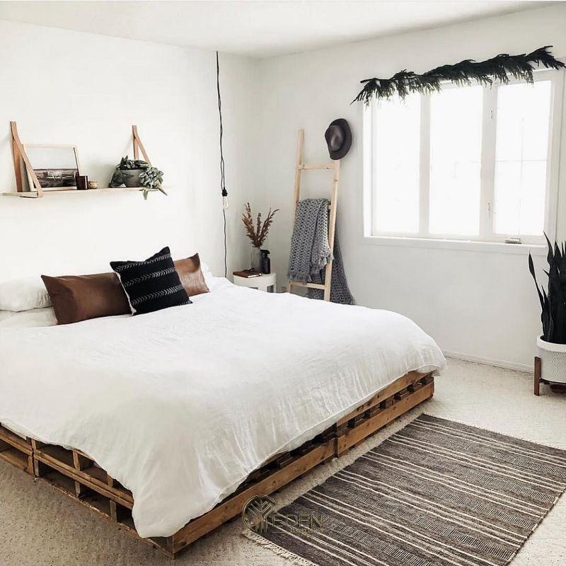 Mẫu giường gỗ trang trí phòng ngủ phong cách Scandinavian (1)