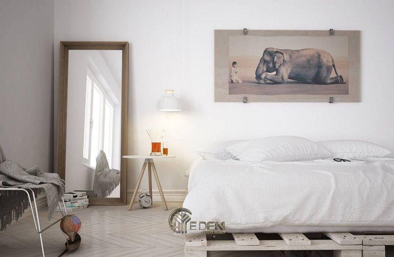 Mẫu giường gỗ trang trí phòng ngủ phong cách Scandinavian (2)