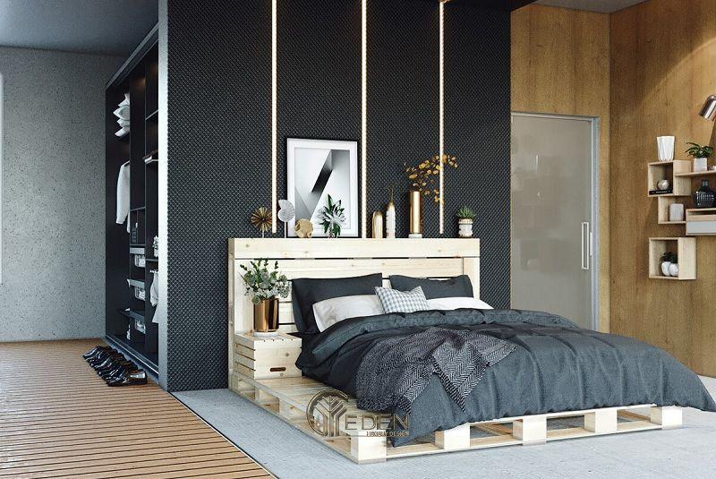 Mẫu giường gỗ trang trí phòng ngủ phong cách Tối giản (2)