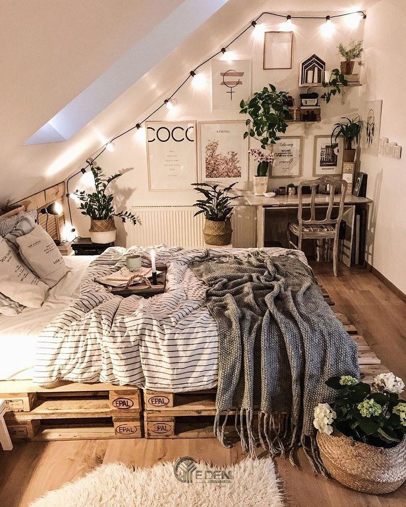 Mẫu giường gỗ trang trí phòng ngủ phong cách Boho (2)