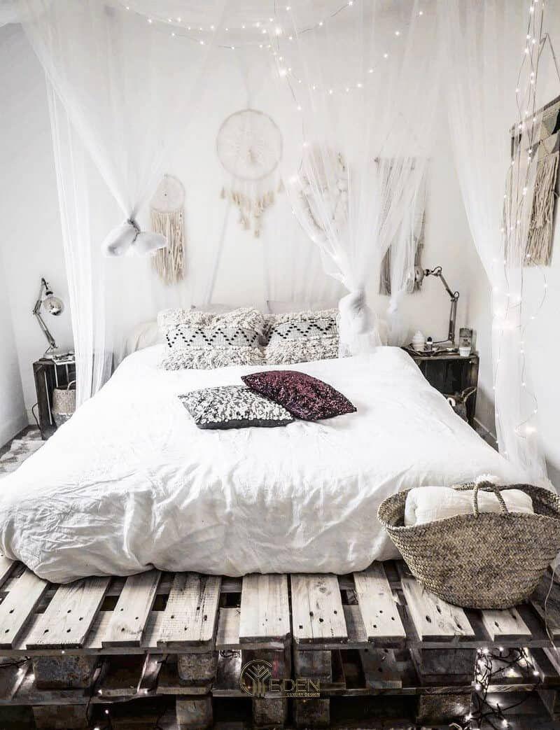 Mẫu giường gỗ trang trí phòng ngủ phong cách Scandinavian (4)