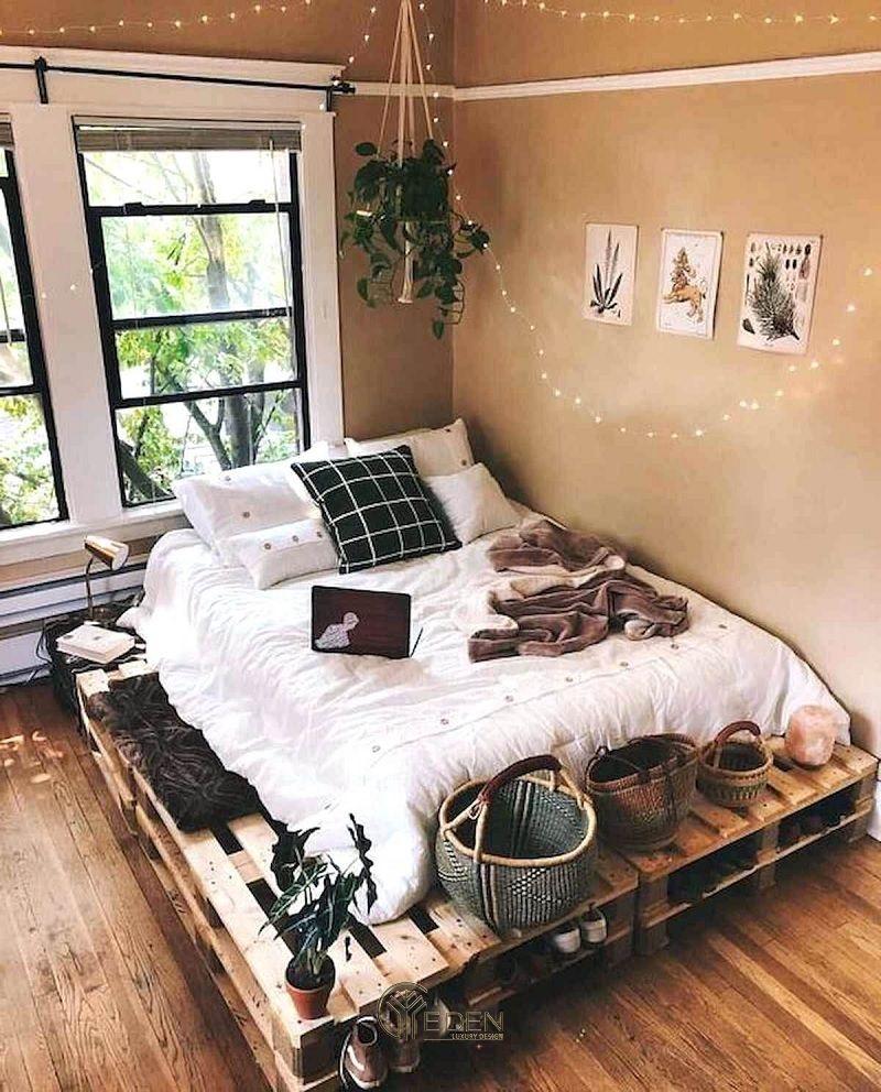 Mẫu giường gỗ trang trí phòng ngủ phong cách Boho (4)