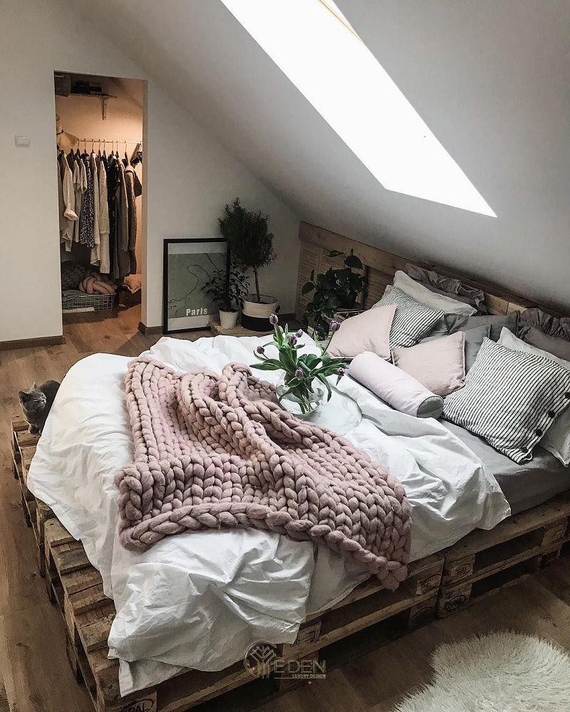 Mẫu giường gỗ trang trí phòng ngủ phong cách Boho (3)
