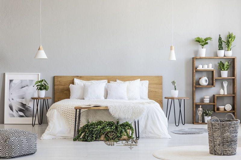 Mẫu giường gỗ trang trí phòng ngủ phong cách Tối giản (4)