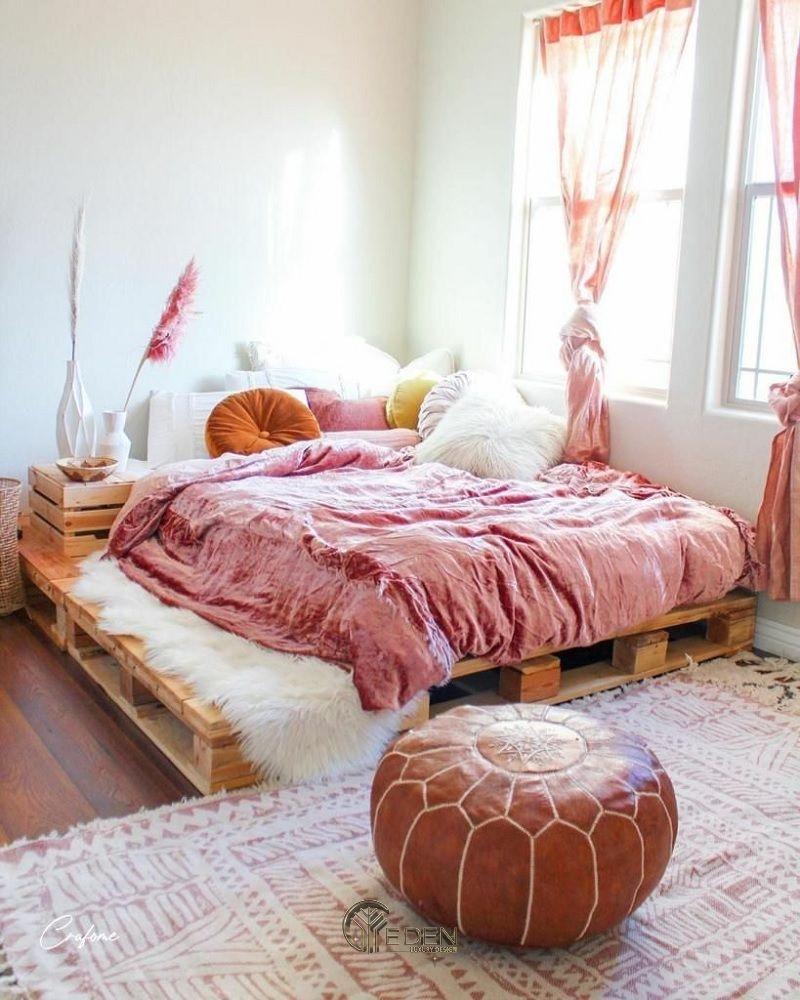 Mẫu giường gỗ trang trí xinh xắn, dễ thương cho các nàng (2)