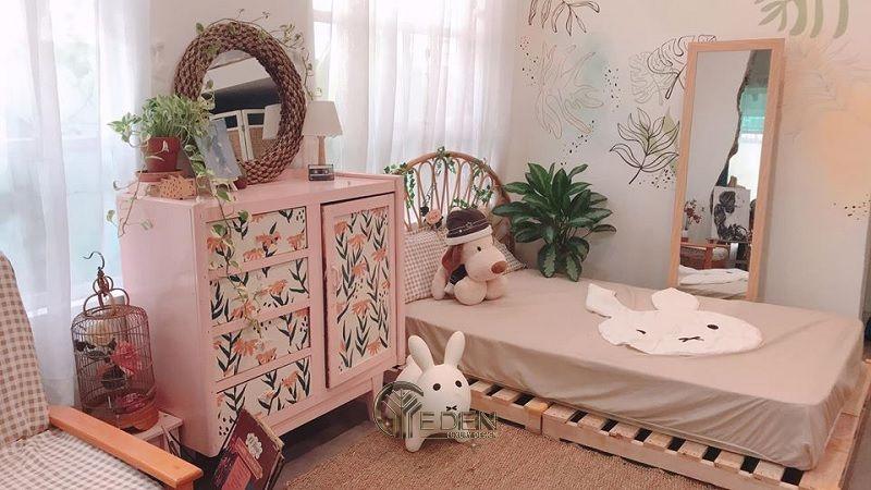Mẫu giường gỗ trang trí xinh xắn, dễ thương cho các nàng (1)