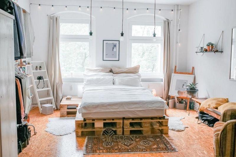 Mẫu giường gỗ trang trí phòng ngủ phong cách Scandinavian (5)