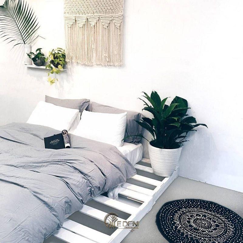 Mẫu giường gỗ trang trí phòng ngủ phong cách Tối giản (3)