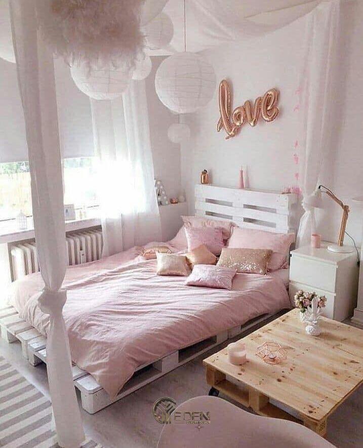 Mẫu giường gỗ trang trí xinh xắn, dễ thương cho các nàng (3)