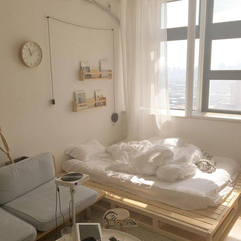 Mẫu giường gỗ trang trí phòng ngủ phong cách Hàn Quốc (1)