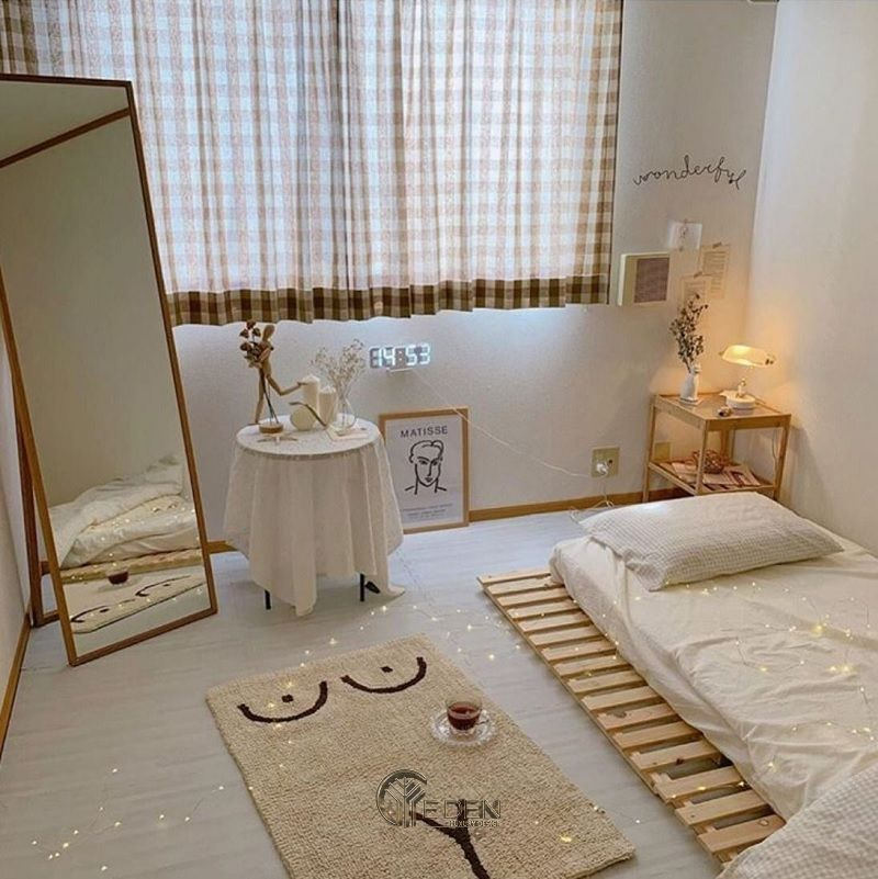Mẫu giường gỗ trang trí phòng ngủ phong cách Hàn Quốc (3)