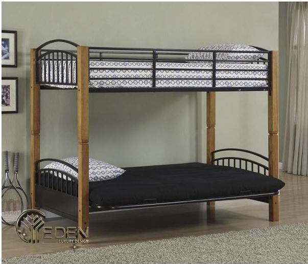 Mẫu giường tầng sắt đơn giản cho người lớn