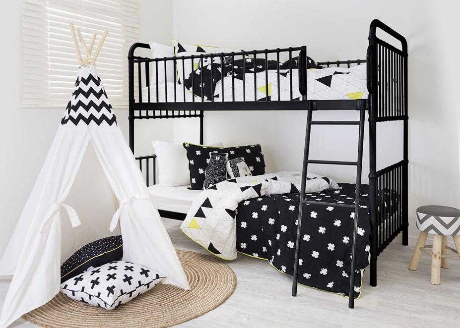 Giường 2 tầng sắt cho người lớn