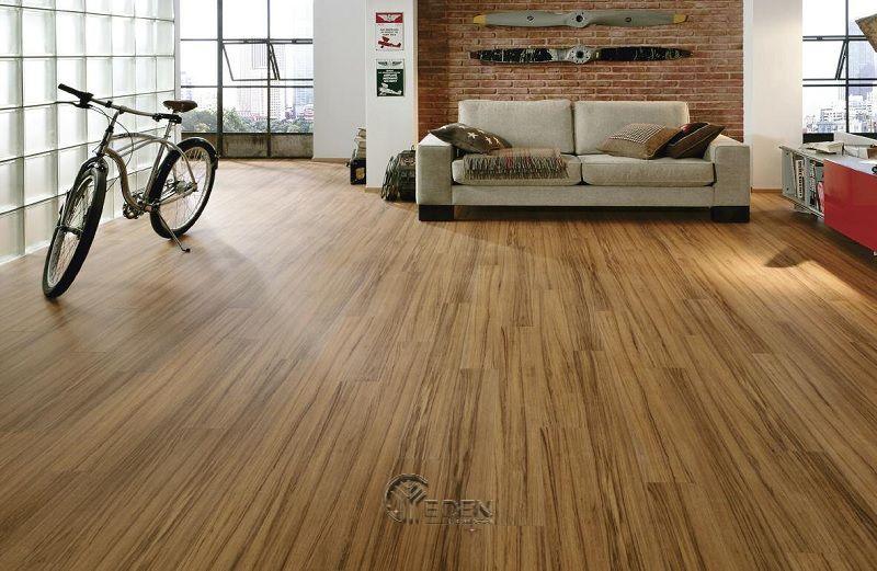 Sàn gỗ HDF cho phòng khách hiện đại